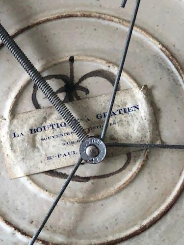 Assiette en ceramique Gustave Reynaud années 50