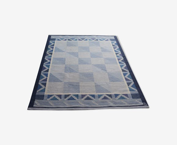 Wool carpet, by Anna Johanna Angstrom Sweden 1960 's. 210x136cm