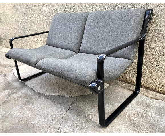 Canapé Knoll Sling design Bruce Hannah & Andrew Morrison vintage 80