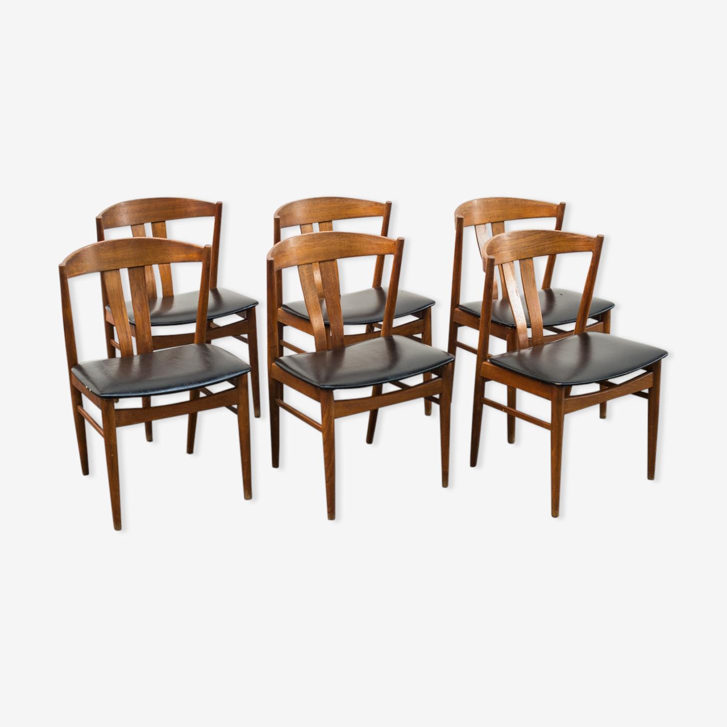 Suite de six chaises en teck de Carl Ewent Ekström