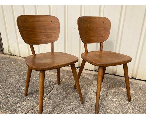 Ancienne paire de chaises scandinaves Hiller