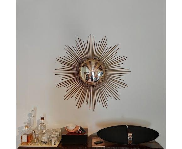 Miroir soleil oeil de sorcière Chaty Vallauris France 50/60's 96x96cm