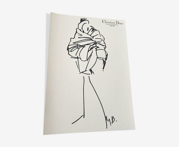 Illustration de mode & photographie de presse Christian Dior collection 1988- 1989