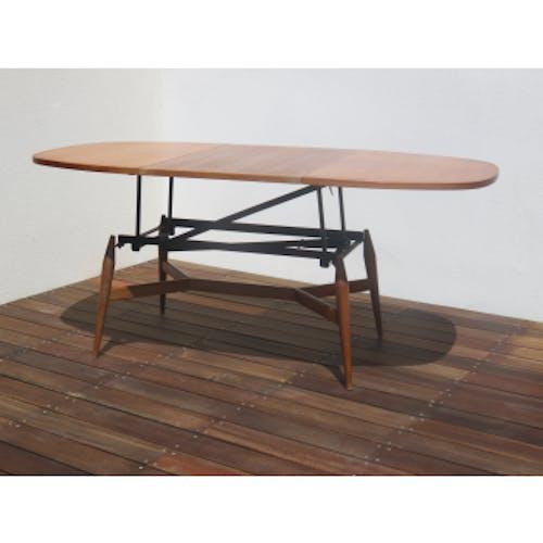 Table basse scandinave relevable smorrebrod