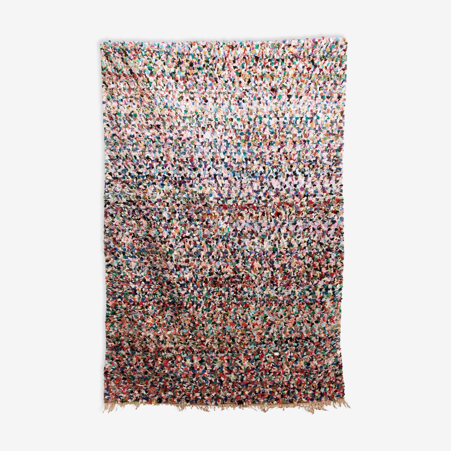 Tapis Marocain Boucherouite Multicolore 120x200cm Wool Cotton