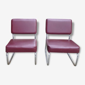 Pair of Burgundy chairs