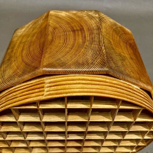 Suspension bois massif design scandinave 1950