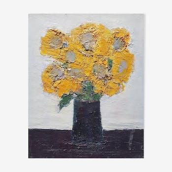 "Nagao Usui painting: ""Sunflower Bouquet"""