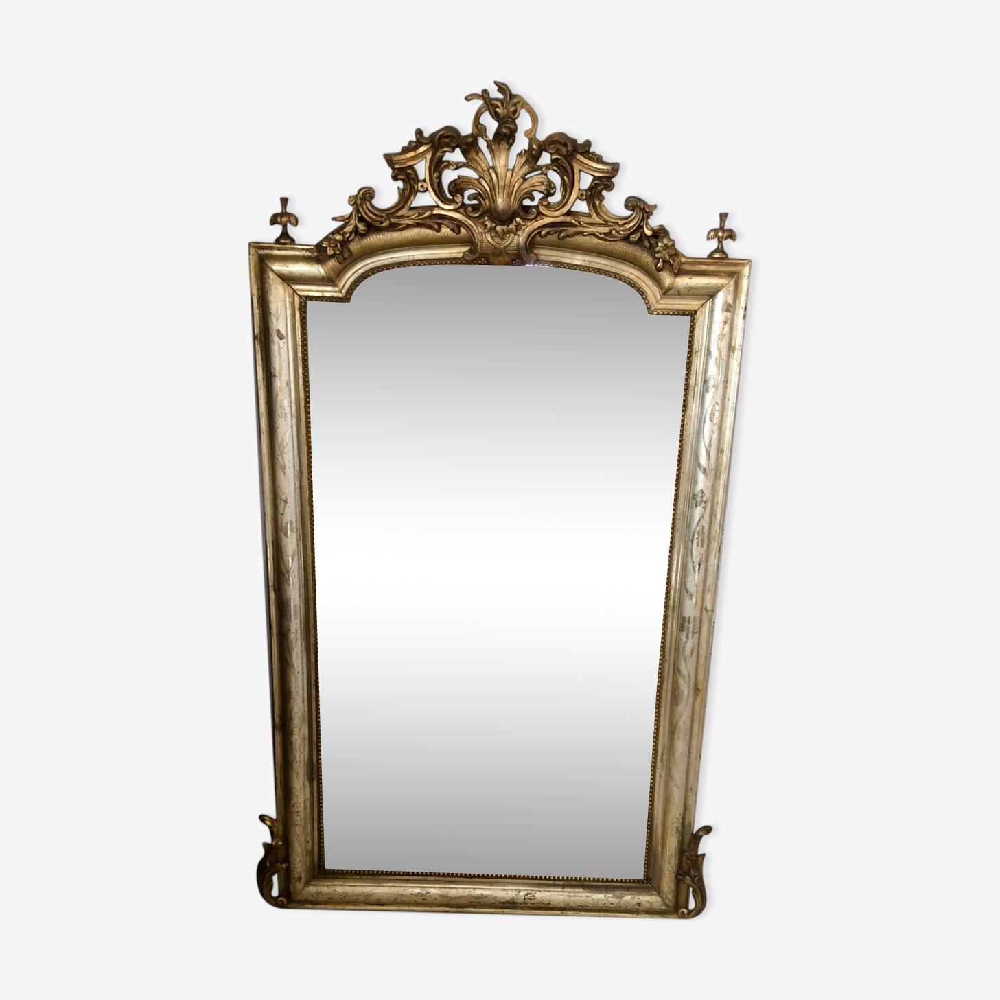 Miroir doré ancien 95x155cm