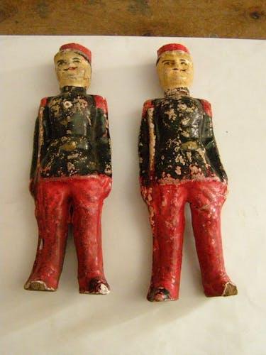 Jouet de collection du XIXé siècle 2 soldats armée française