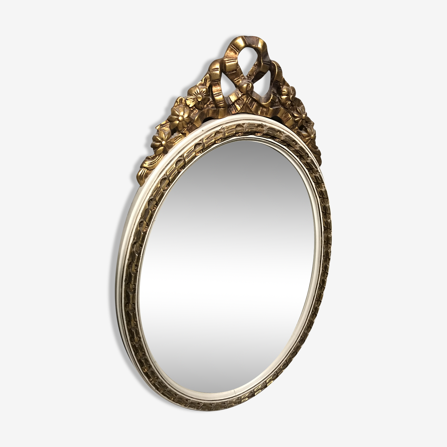 Oval mirror Louis XVI gilded style 53x90cm