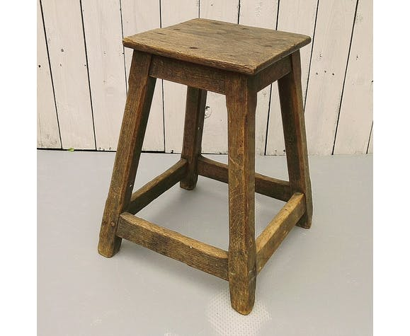 Country stool, wood, decoration, vintage