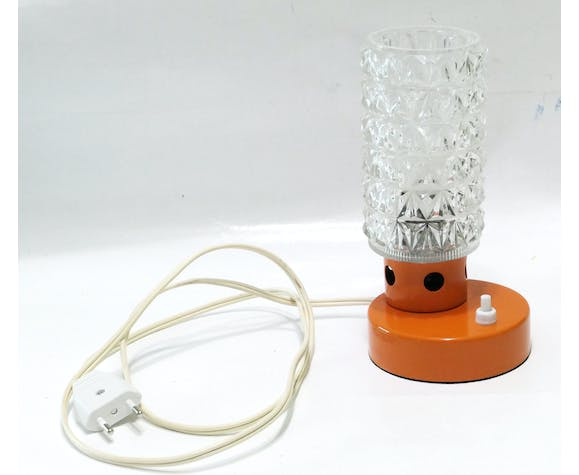 Lampe de table années 1960 orange