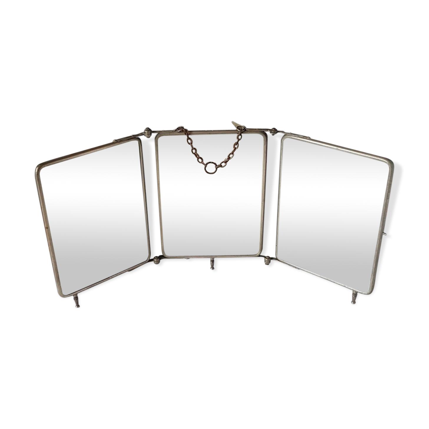 Miroir triptyque des années 40 59 X 25 cm