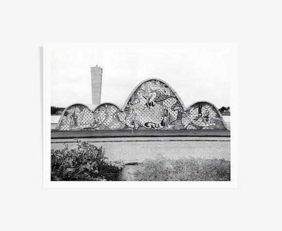 Photographie de l'église Saint François d'Assise d'Oscar Niemeyer