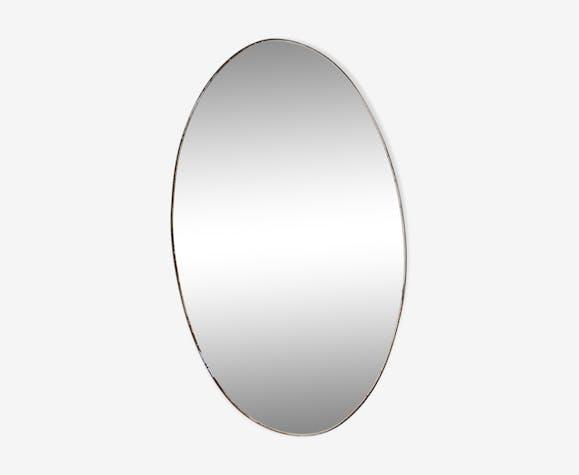 Oval mirror closet vintage 54x30cm