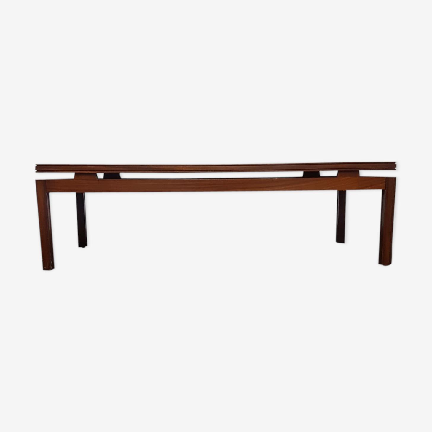 Table basse en teck, milieu du siècle, design scandinave 60s/70s