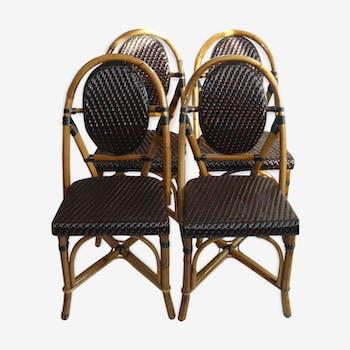 chaise en rotin et osier vintage d 39 occasion. Black Bedroom Furniture Sets. Home Design Ideas