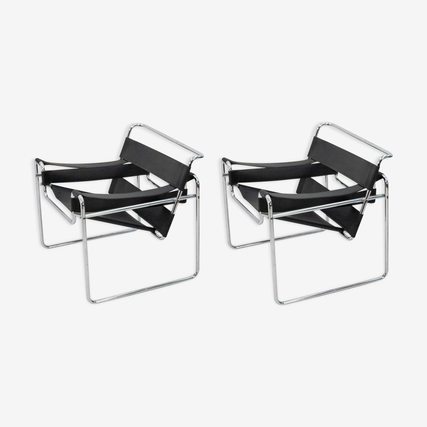 Paire de fauteuils, Marcel Breuer 1980