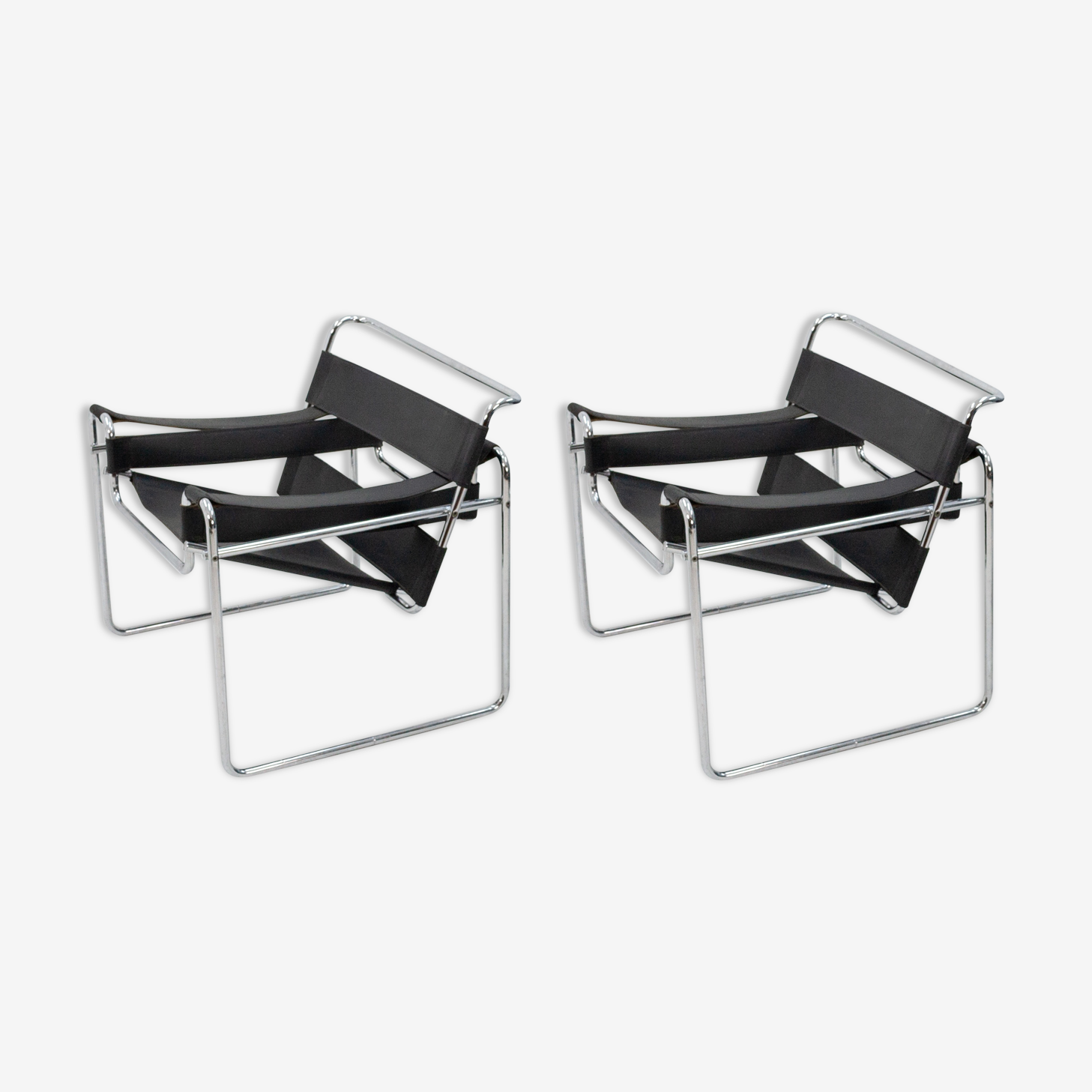 Pair of armchairs, Marcel Breuer 1980