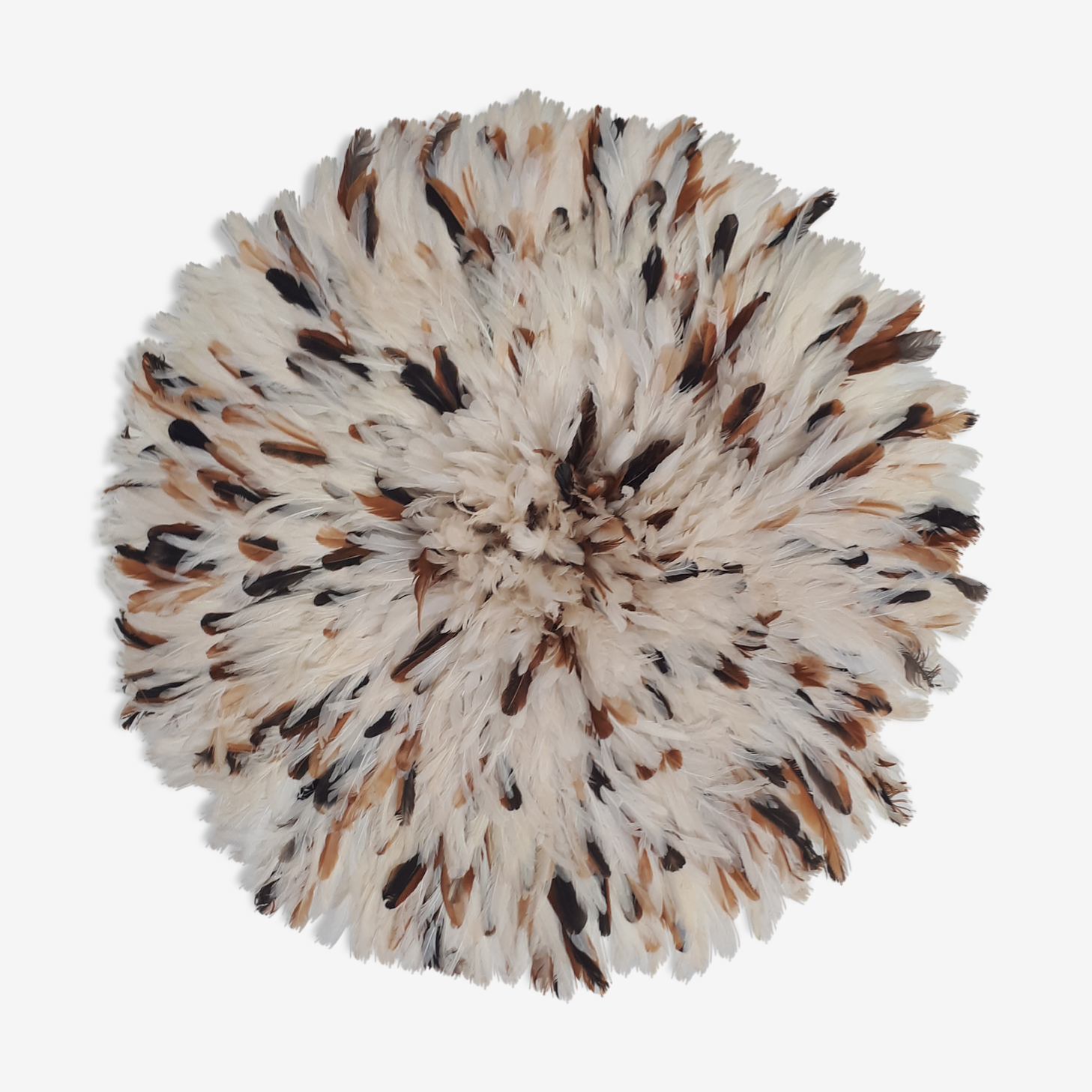 White and Brown 80/85 cm juju hat