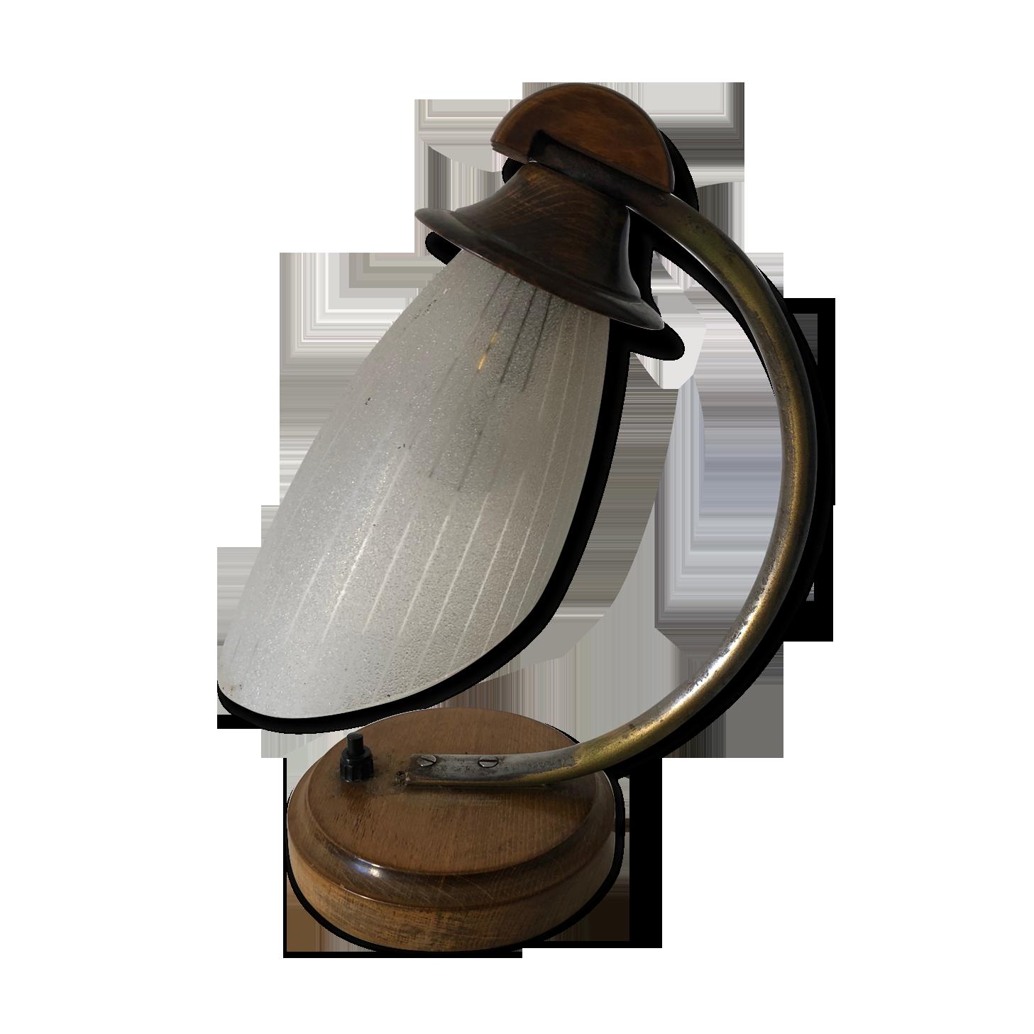 Lampe bureau art nouveau bois cm vintage bois matériau