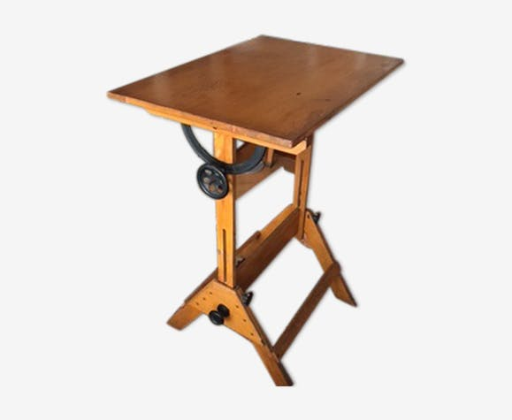 table dessin ancienne des ann es 20 30 style industriel. Black Bedroom Furniture Sets. Home Design Ideas