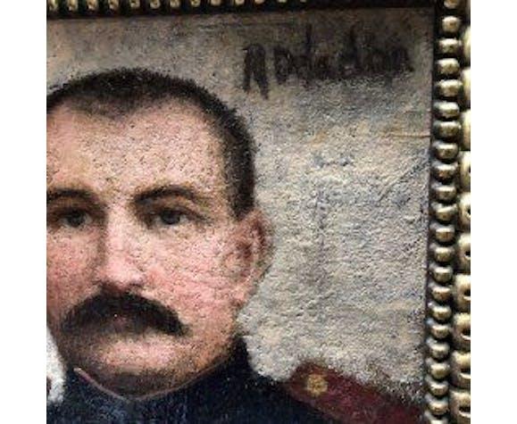 Tableau portrait militaire début XXème