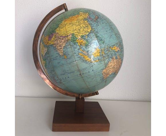 Globe terrestre Girard Barrère vintage 1960 - 45 cm