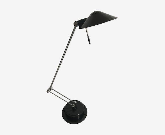 Lampe de table bureau aluminor ref 20 02 articulée métal noir