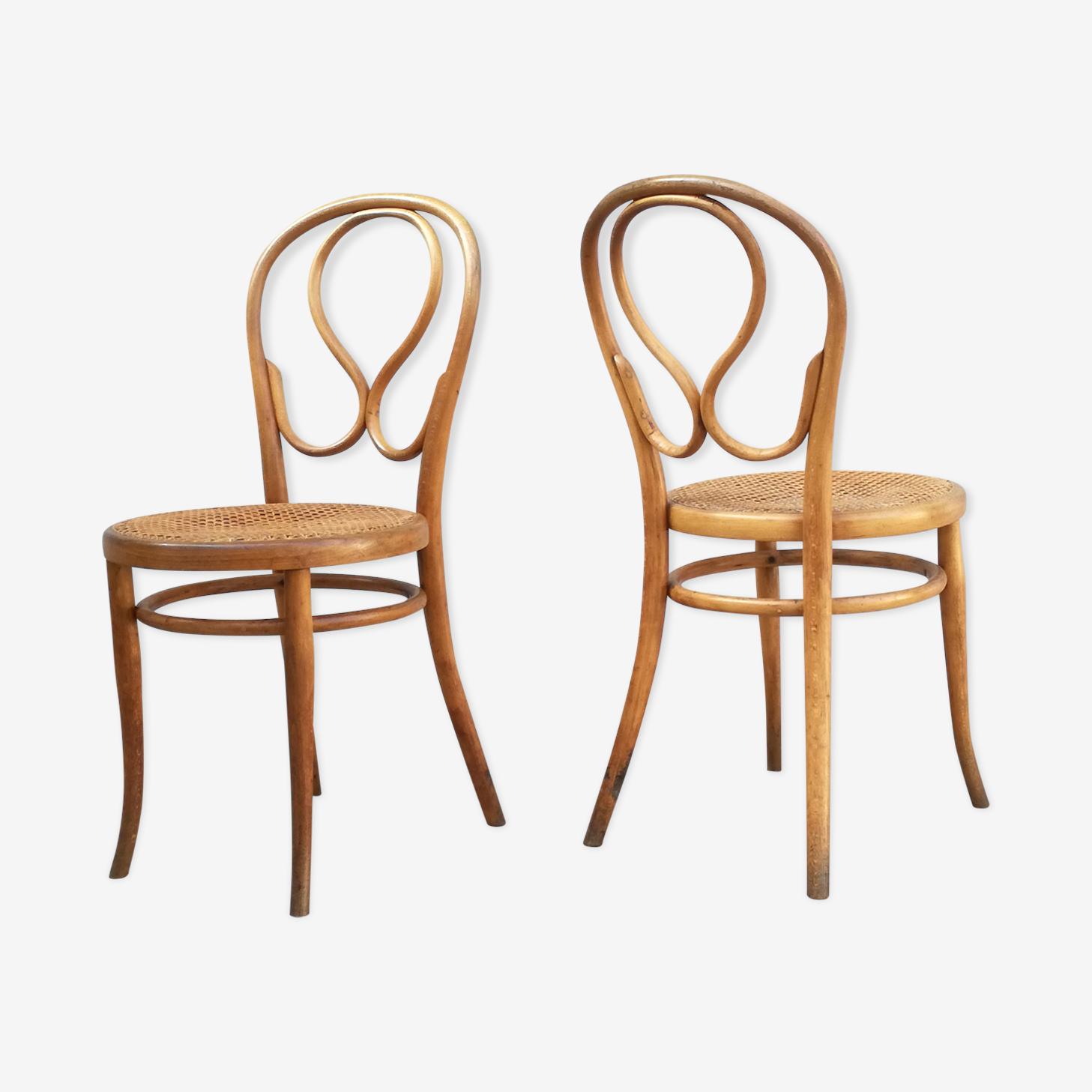 Duo de chaises bistrot viennoises Thonet