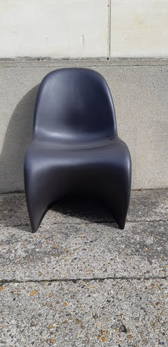 Panton chair noire par Verner Panton pour Vitra