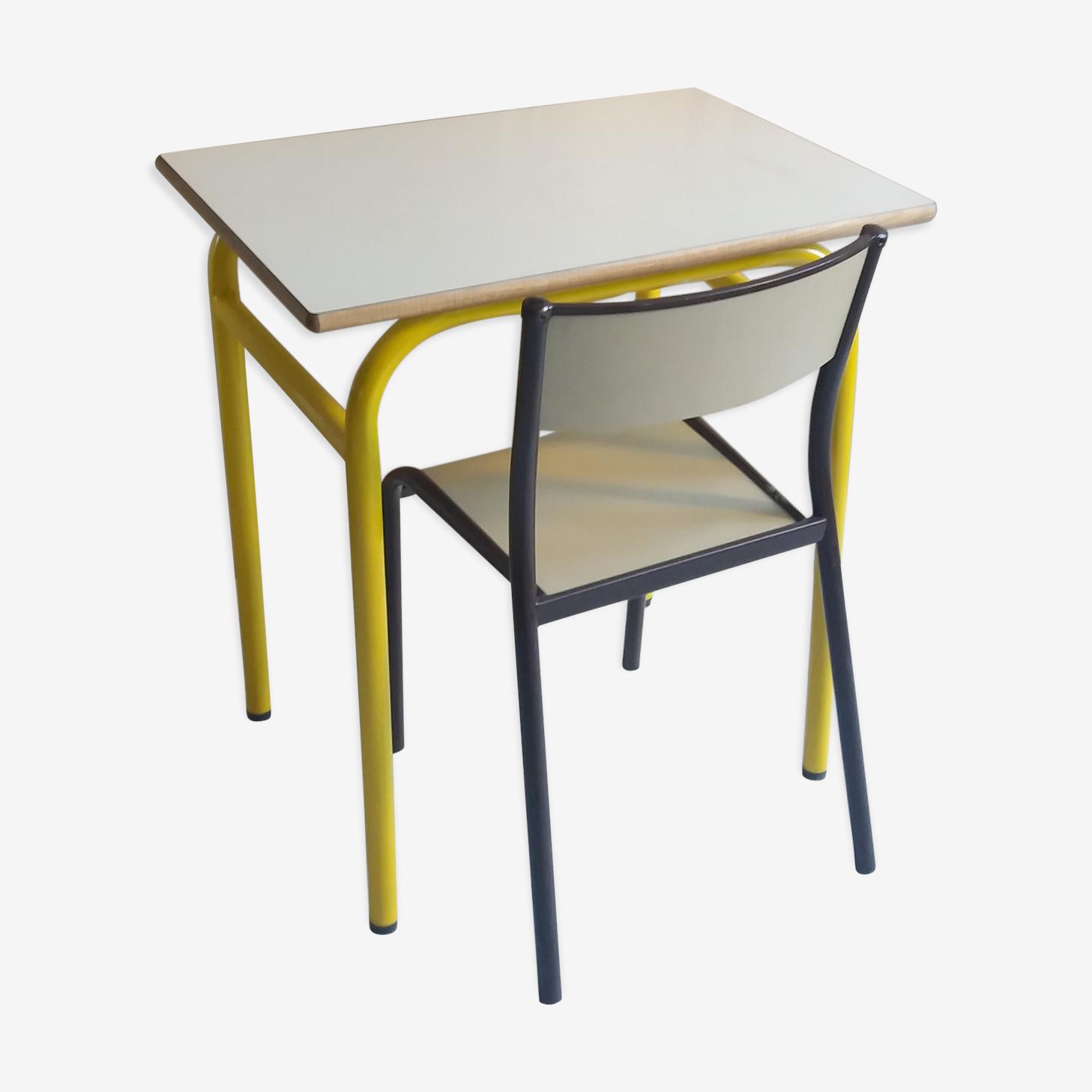 Table bureau vintage et sa chaise