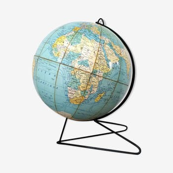 Globe terrestre Girard Barrère, 1960