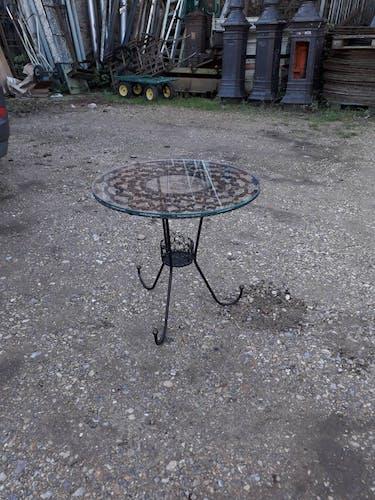 Table basse métallique vintage