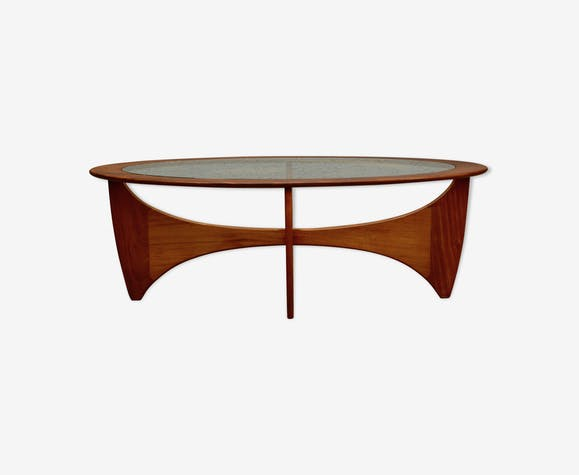 Oval Teak Coffee Table By G Plan