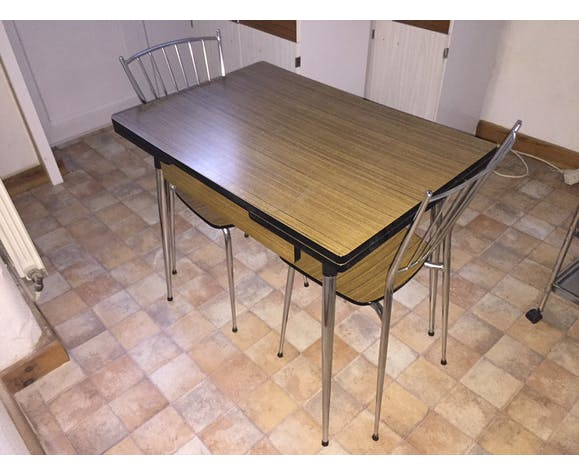 Year 1965 Vintage Formica Kitchen Table Selency