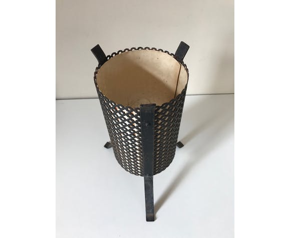 Lampe métal perforé vintage années 60
