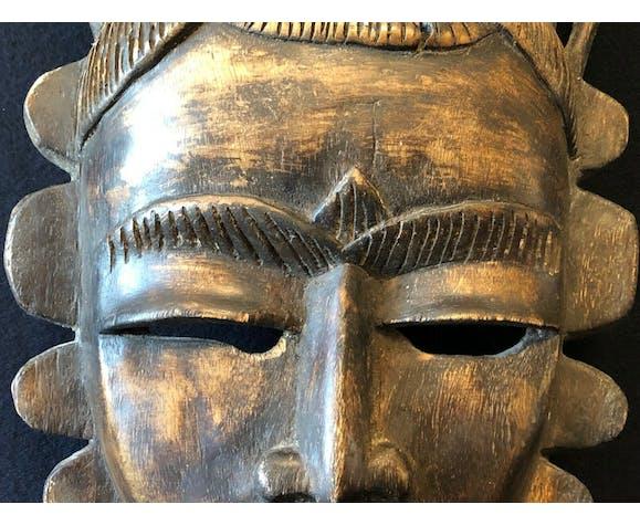 Masque ancien Afrique Yaouré 1960