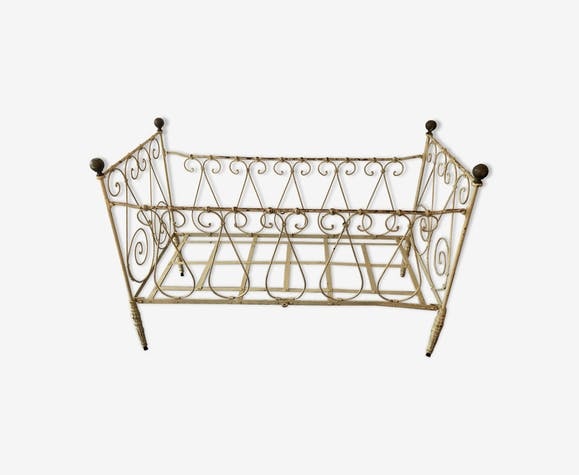 Child cot bench two-seater cast-iron nineteenth