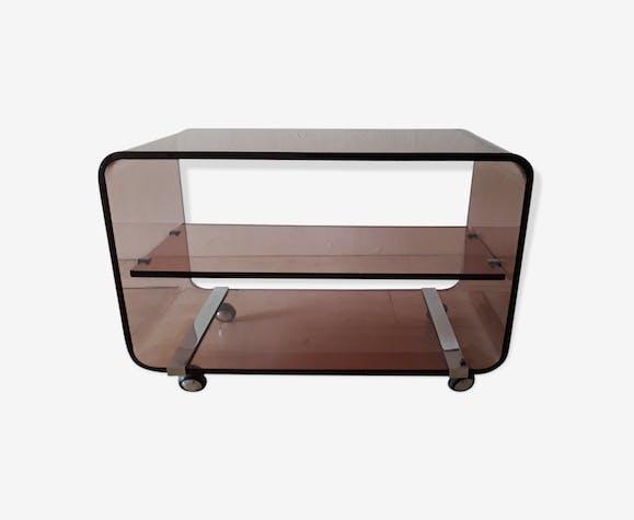 meuble bas en plexiglas fum plexiglas marron. Black Bedroom Furniture Sets. Home Design Ideas