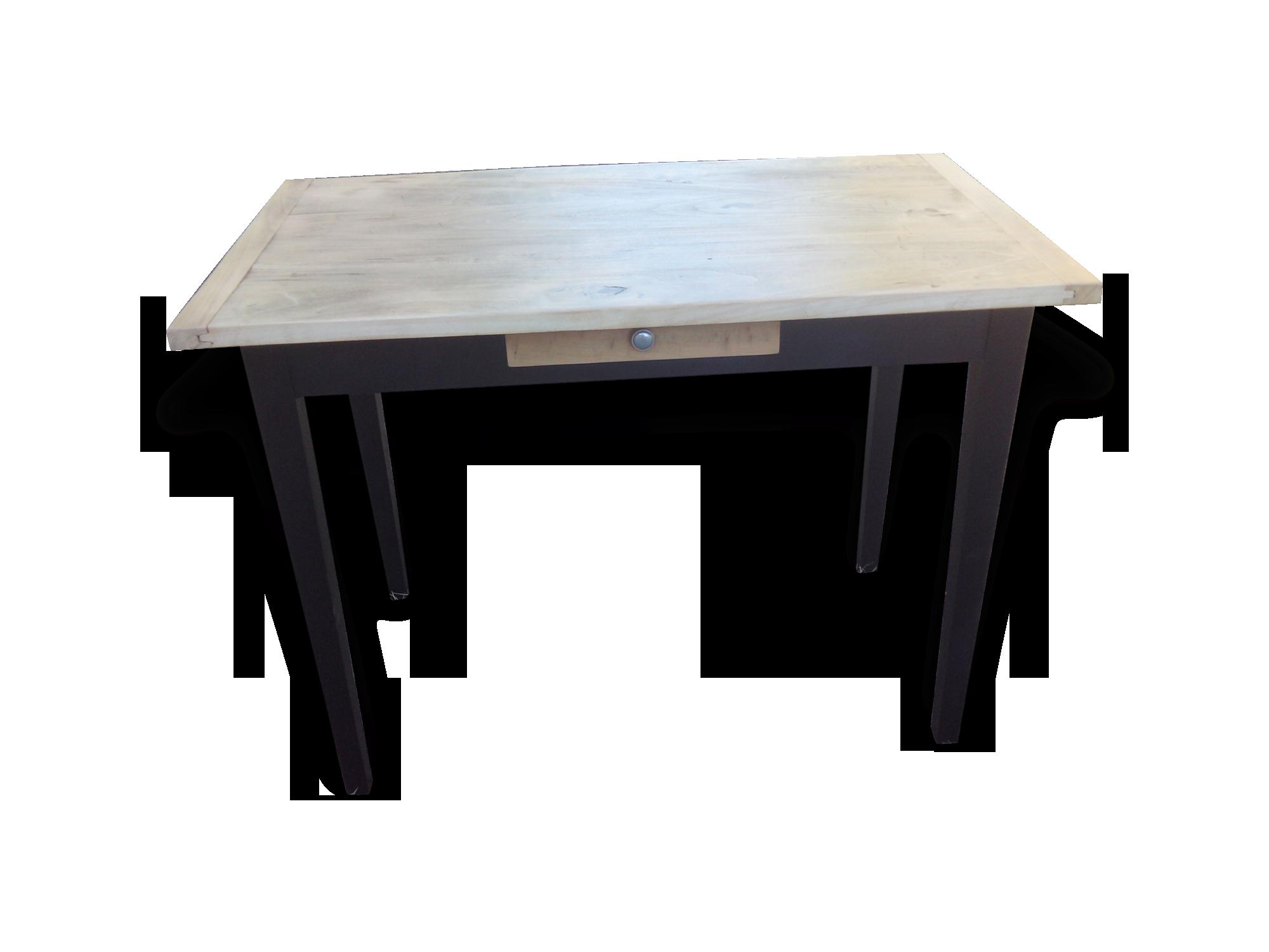 Bureau style industriel bois matériau noir industriel