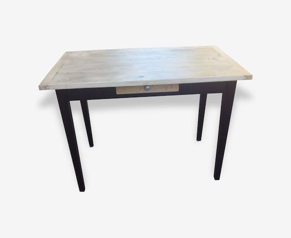 Bureau style industriel bois matériau noir industriel 109059