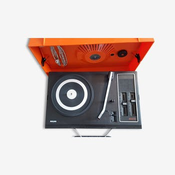 """Vintage record player Philips of the 1970s """"523"""""""