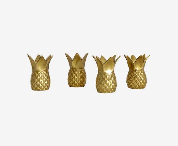 Bougeoirs ananas en laiton