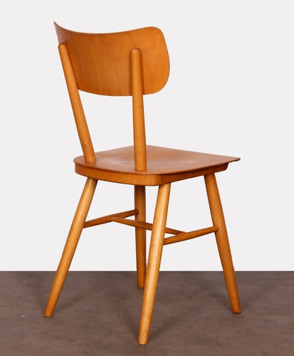 Ensemble de 4 chaises vintage en bois éditées par Ton, 1960