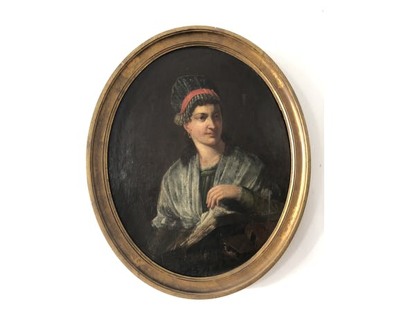 19th century medallion portrait
