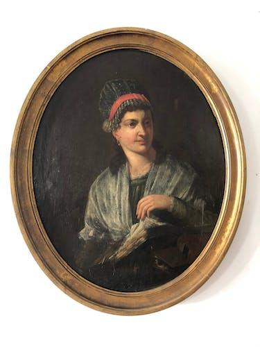 Portrait médaillon XIX ème siècle