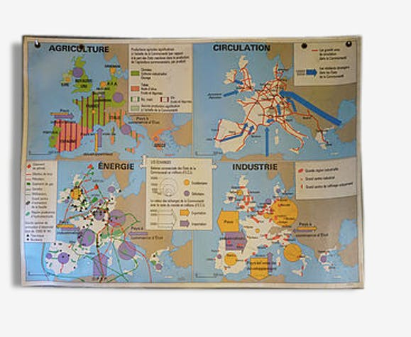 Old school Europe map - plastic - classic - 62566