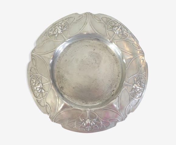 Assiette etain Kayserzinn Art nouveau Jugenstil